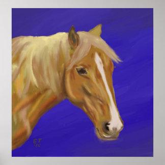 Palomino Horse Poster