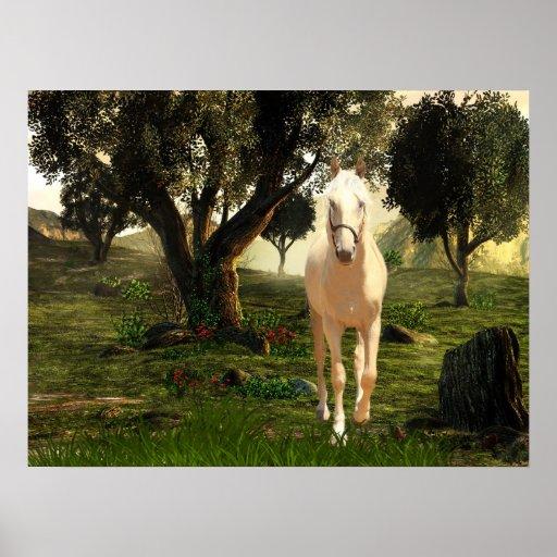 Palomino horse posters
