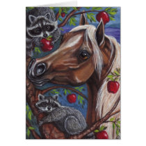 PALOMINO HORSE Raccoon Note Card