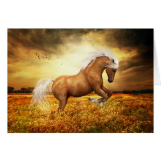 Palomino Horse rearing Card