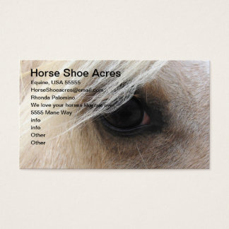 Palomino Horse Shoe Acres Business Card