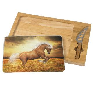Palomino Horse Sundance Cheese Board Rectangular Cheeseboard