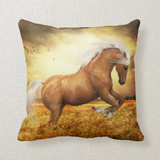 Palomino Horse Sundance Throw Pillow
