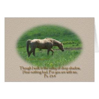 Palomino Horse Sympathy Ps. 23 Greeting Card
