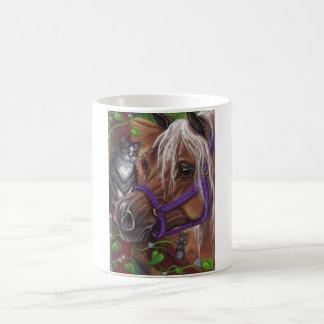 PALOMINO HORSE Tuxedo Cat Mouse Mug