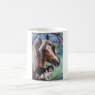 PALOMINO HORSE Tuxedo Cat Mug