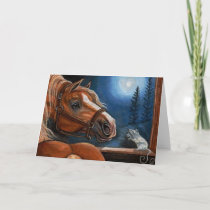 PALOMINO HORSE White Mouse Note Card