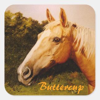 Palomino Horse with Blaze Sticker