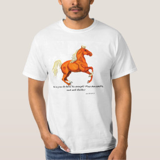 Palomino Horse with Scripture Shirt