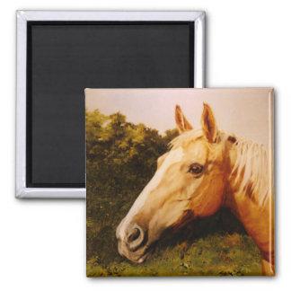 Palomino Horse with White Blaze Magnet