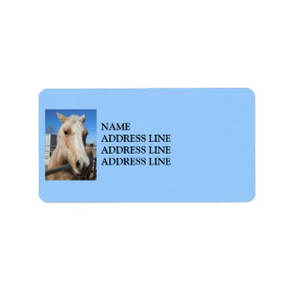 Palomino Horse Your Background Color - Western Label