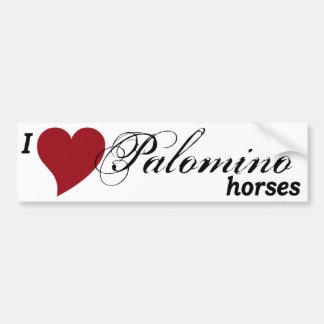 Palomino horses bumper sticker