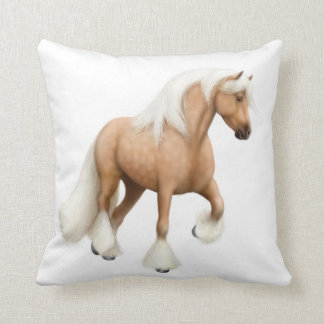Palomino Irish Cob Horse Pillow