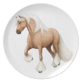 Palomino Irish Cob Horse Plate
