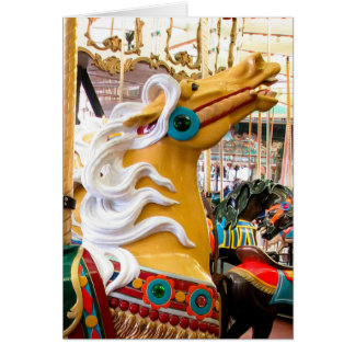 Palomino Looff Carousel Horse Greeting Card