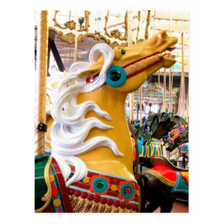 Palomino Looff Carousel Horse Post Cards