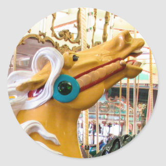 Palomino Looff Carousel Horse Classic Round Sticker