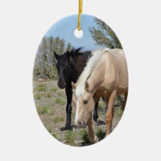 Palomino Mustang Ceramic Ornament