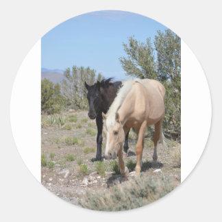Palomino Mustang Classic Round Sticker