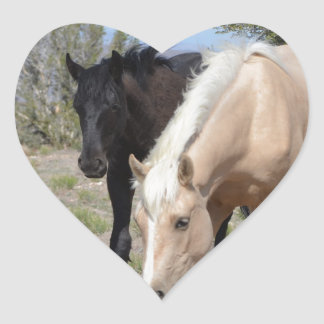 Palomino Mustang Heart Sticker