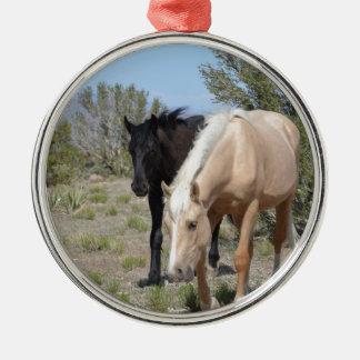 Palomino Mustang Metal Ornament