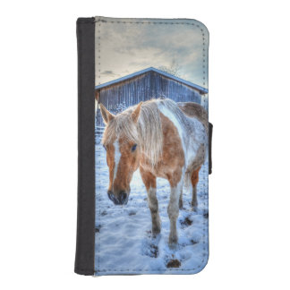 Palomino Paint Horse & Barn Equine Photo iPhone SE/5/5s Wallet Case
