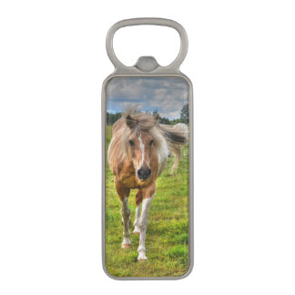 Palomino Paint Pinto Horse Equine Photo Magnetic Bottle Opener