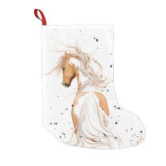 Palomino Paint Pony by Bihrle Christmas Stocking Small Christmas Stocking