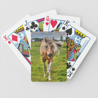 Palomino Paint Ranch Horse Animal-lover Photo Bicycle Playing Cards
