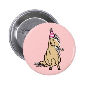 Palomino Party Pony Button