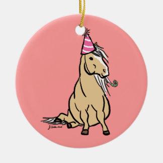 Palomino Party Pony Ceramic Ornament