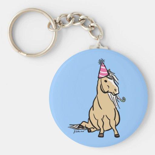 Palomino Party Pony Key Chain