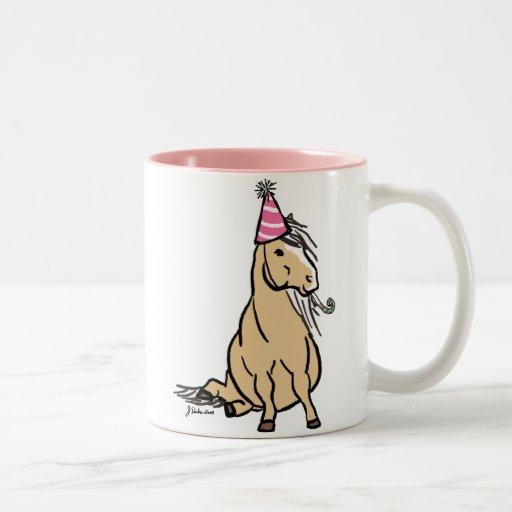 Palomino Party Pony Coffee Mugs