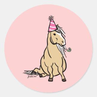 Palomino Party Pony Round Sticker