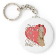 Palomino Paso Fino Heart Scroll Keychains