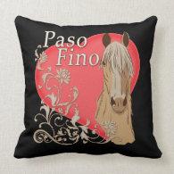 Palomino Paso Fino Heart Scroll Throw Pillow