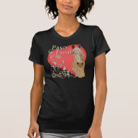 Palomino Paso Fino Heart Scroll Tshirts