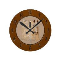 Palomino Paso Fino Style Round Clocks
