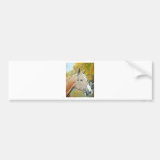 Palomino pastel del caballo etiqueta de parachoque