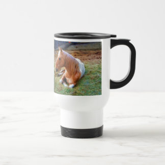 Palomino Pinto Horse Resting Artwork Travel Mug