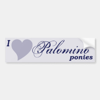 Palomino ponies bumper sticker