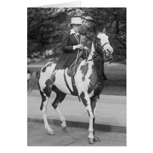 Palomino Pony, 1915 Tarjeta De Felicitación