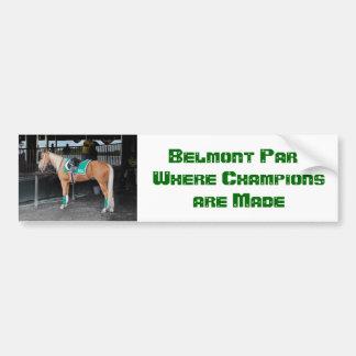 Palomino Pony at Belmont Park Bumper Sticker