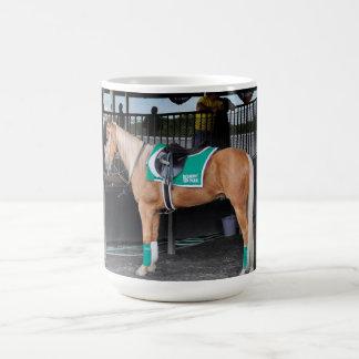 Palomino Pony at Belmont Park Classic White Coffee Mug