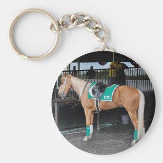 Palomino Pony at Belmont Park Keychain