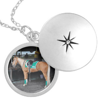 Palomino Pony at Belmont Park Personalized Necklace
