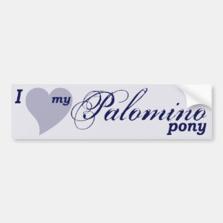 Palomino pony bumper sticker