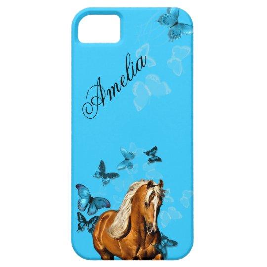 Palomino Pony Butterflies iPhone SE/5/5s Case