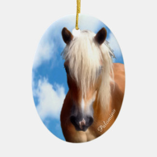 Palomino Pony Ceramic Ornament