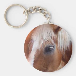 Palomino Portrait Art Magnet Basic Round Button Keychain